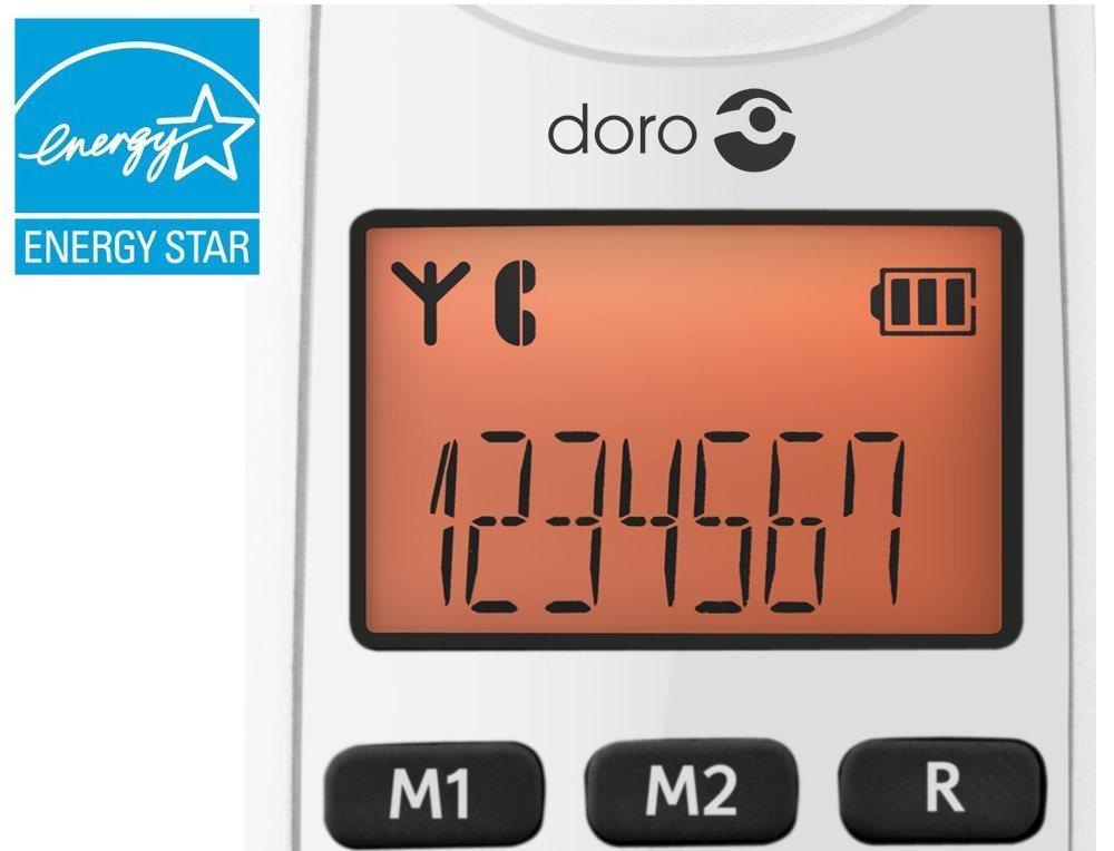 Doro PhoneEasy 100w DECT Schnurlostelefon Freisprechen Wei%C3%9F 1