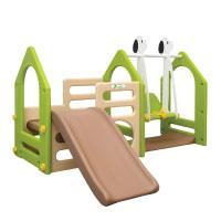 LittleTom Kinder Spielhaus mit Rutsche Schaukel