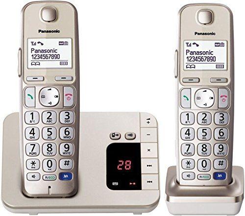 Panasonic KX TGE 222 DUO Schnurlostelefon Mit Anrufbeantworter DECT