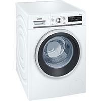 Siemens iQ700 WM14W5A1 iSensoric Premium Waschmaschine / A+++ / 1400 UpM / 8 kg / Weiß / Nachlegefunktion / Antiflecken System / Super15 [Energieklasse A+++]