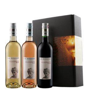 Weinpräsent - La Grange 3er Probierpaket Frankreich (Rotwein, Weißwein, Rosé)