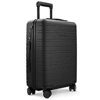 HORIZN STUDIOS Handgepäck Koffer | Cabin Trolley Model H | Hartschale 55 cm, 35 L, mit 4 Rollen und TSA Schloss (Komplett Schwarz)