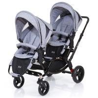 ABC Design Zoom Zwillings- und Geschwisterkinderwagen Graphite Black