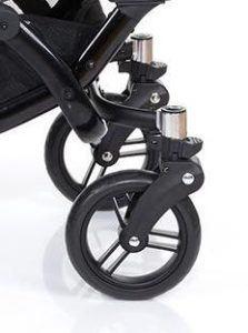 Räder von einem Zwillings- und Geschwisterkinderwagen von ABC-Design in graphite-black