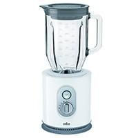 Braun IdentityCollection JB 5160 Standmixer , 1.000 W, 22.500 U/min, ThermoResist Glas-Mixbehälter (1,6 l), weiß