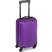 LEONARDO Koffer Reisekoffer Trolley Koffer Handgepäck Boardcase in verschiedenen Farben (Dunkel-Lila)