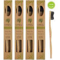 4er-Pack Holzzahnbürste aus nachhaltigem Bambus-Holz