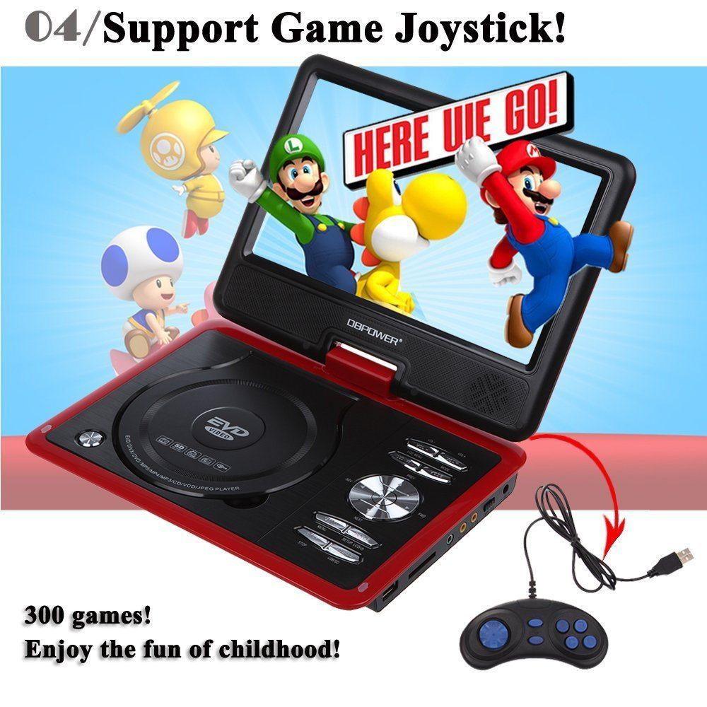 9.5 Tragbarer DVD-Player mit drehbarem Display Spiele