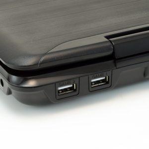 AudioSonic DV-1821 Tragbarer DVD-Player (18 cm (7 Zoll), Kartenslots, USB) in schwarz