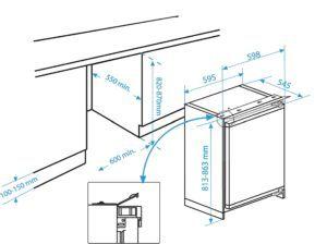 Der Beko BU 1152 Einbaukühlschrank verfüg über alle nötigen Funktionen.