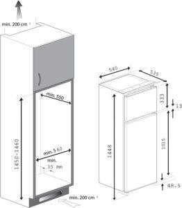 Der Beko RBI 6301 Integrierbarer Doppeltürer hat ein separates Gefrierfach.