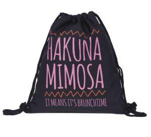 Beutel Hakuna Matata Mimosa Blumen Sommer Turnbeutel Gym Bag Gymsack