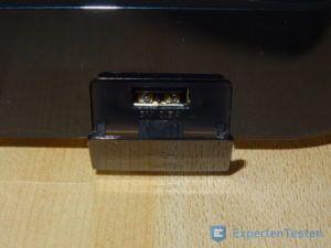 USB-Anschluss vom BluRay Player von Samsung im Detail