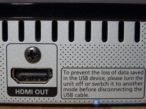 HDMI-Ausgang vom BluRay Player von Samsung im Detail