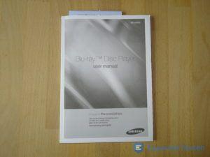 Anleitung vom BluRay Player von Samsung im Detail