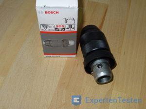 Zusätzlicher Bohrkopf für einen Bohrhammer von Bosch mit Verpackung