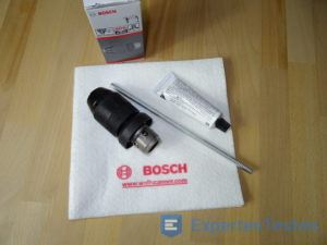 Bohrkopf vom Bohrhammer von Bosch mit Reinigungsset
