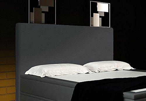 Boxspringbett Grau 180x200 inkl. 2 Bettkasten Hotelbett Bett LED Polsterbett Rio Lift test