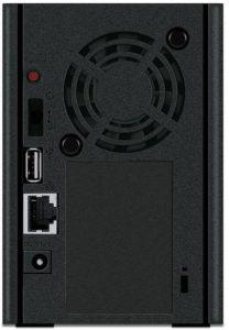 Buffalo LinkStation LS220 2-Bay-Desktop-NAS-Gehäuse Hinten