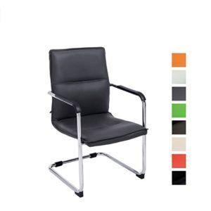 Das CLP Freischwinger-Stuhl mit Armlehne SEATTLE mit Farbmuster