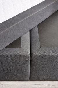 Designer Boxspringbett 140x200 cm Bonell Federkernmatratze, inkl. Komfortschaum-Topper, Anthrazit H2, Doppelbett Polsterbett