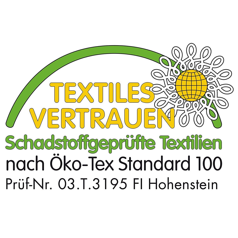 Textiles Vertrauen in einer Daunendecke von Frau Holle Abzeichen