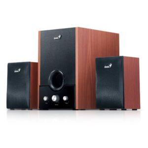Genius SW-HF2.1 1700 2.1Kanäle 45W Holz Lautsprecherset - Lautsprechersets (2.1 Kanäle, 45 W, 7,62 cm (3 Zoll), 12,7 cm (5 Zoll))