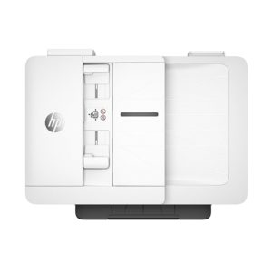 Der HP OfficeJet Pro 7740 A3-Multifunktionsdrucker lässt sich auf über Apple AirPrint bedienen.