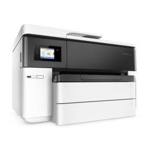 Der HP OfficeJet Pro 7740 A3-Multifunktionsdrucker hat eine Druckgeschwindigkeit bis zu 22 Seiten/Minute.