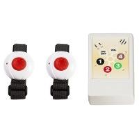 """Helpline 1.0 mobil """"ForTwo"""" Pflegeruf-Set / Hausnotruf / Senioren-Hausalarm mit mobilem Empfänger und zwei Funk-Armband-Sendern. Quittierungsfunktion."""