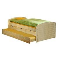 Kojenbett Funktionsbett Schubladenbett JULIA Kiefer massiv natur lackiert Liegefläche 90 x 200 cm (B x L)