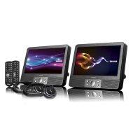 Lenco DVP-938 2x 9 Zoll DVD-Player mit Bildschirm, 2x Kopfhörer, USB, SD/MMC, 2x Fernbedienung, 2x Kopfstützenbefestigung, 2x Netzadapter, schwarz