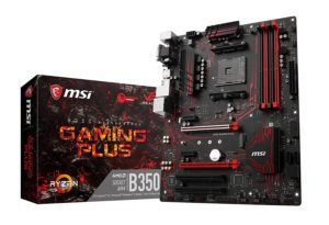 MSI B350 GAMING PLUS, Sockel AM4, DDR4, HDMI,DVI,D-Sub 1x M.2 & 8x USB 3.1 Gen1, 1x USB-C ATX Mainboard