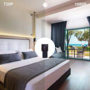 Mini Kamera 1080P von Aobo im Schlafzimmer