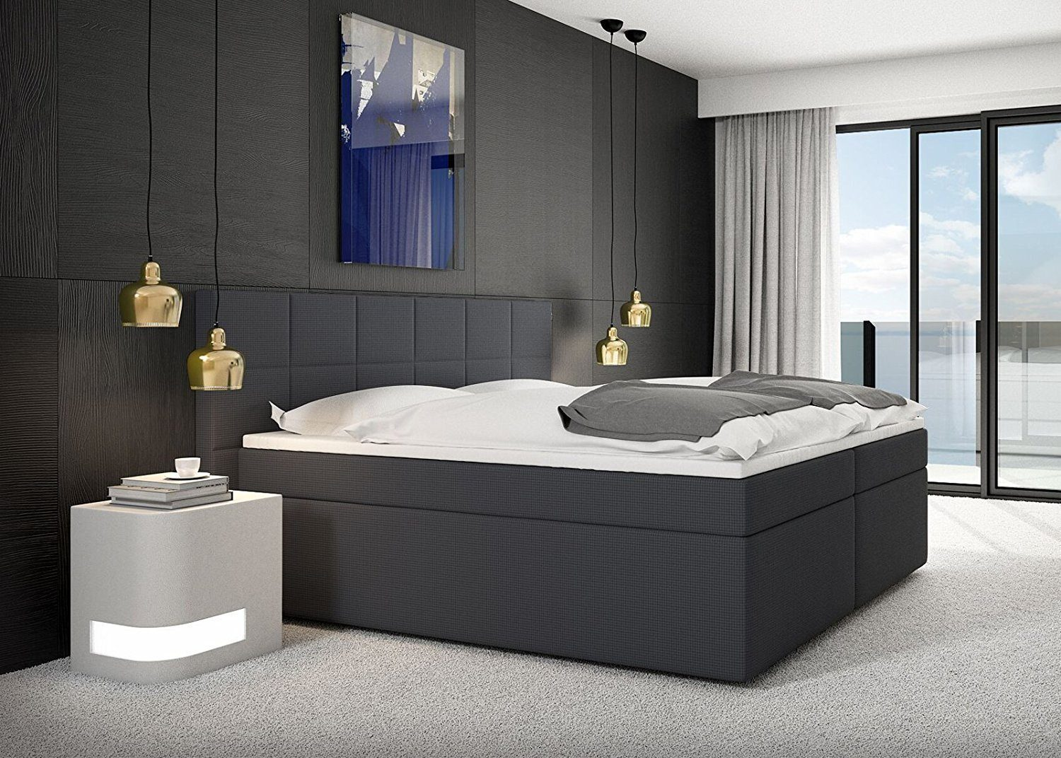 miosono design boxspringbett grace. Black Bedroom Furniture Sets. Home Design Ideas