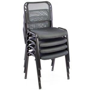Der Nexos Bürostuhl 4er Set Konferenzstuhl lässt sich wunderbar stapeln und platzsparend verstauen.