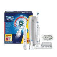 Oral-B Pro 6500 SmartSeries elektrische Zahnbürste, mit Timer und vier Aufsteckbürsten