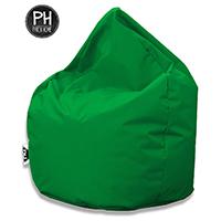 Patchhome Sitzsack Tropfenform Grün für In & Outdoor XXXL 480 Liter - mit Styropor Füllung in 25 versch. Farben und 3 Größen