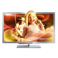 Philips 37PFL7606K/02 94 cm (37 Zoll) Ambilight 3D LED-Backlight-Fernseher (Full-HD, 400 Hz PMR, DVB-T/C/S, Smart TV) silbergrau [Energieklasse A]