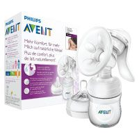 Philips-Avent-SCF33020-Komfort-Handmilchpumpe-mit-Naturnah-Flasche