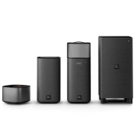 Philips Fidelio E6 Surround On Demand Kinolautsprecher (Bluetooth, Spotify Connect, HDMI ARC, Google Cast, kabelloser Subwoofer, abnehmbare Rücklautsprecher, 270 Watt) anthrazit