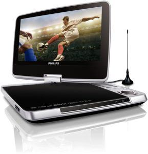 Philips PD902512 Tragbarer DVD-Player (23 cm (9 Zoll) LCD, DVB-T, USB, DVD-RW) silber