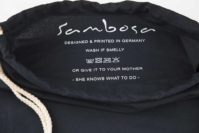 Sambosa Turnbeutel mit Spruch