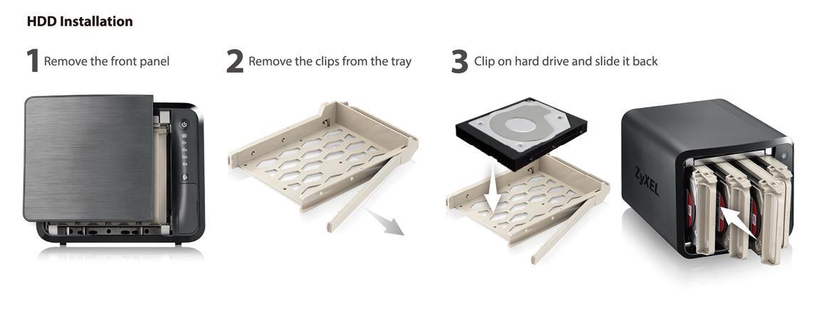 Schraubenloses Design für schnelle und einfache Einrichtung