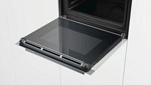 Der Siemens HB634GBW1 iQ700 Backofen Elektro arbeitet mit Energieeffizientsklasse A.