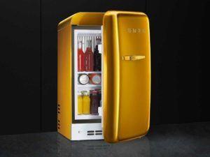 Smeg FAB5RGO Stand Kühlschrank Gold