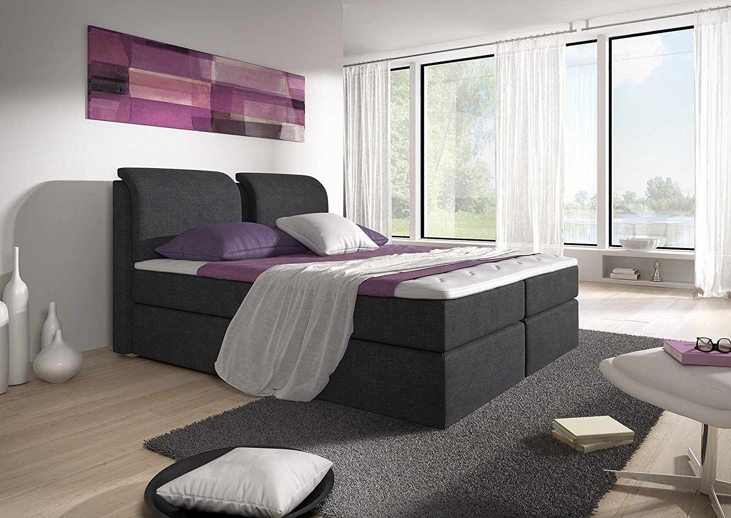 stilea visco memory boxspringbett im test 2018 expertentesten. Black Bedroom Furniture Sets. Home Design Ideas