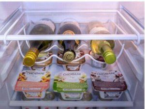 Universal Weinflaschenhalter Flaschenhalter für Kühlschrank Weiß