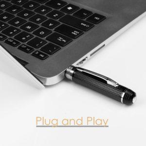 Versteckte Kamera Spion im Kugelschreiber mit USB-Anschluss