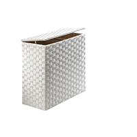Wäschesortierer Wäschebox Wäschesammler Wäschetruhe Wäschebehälter Wäschekorb Nylon weiß